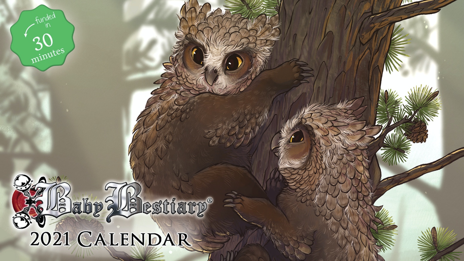 Explore the adorable with the adorable 2021 Baby Bestiary Calendar, illustrated by KM Steere!