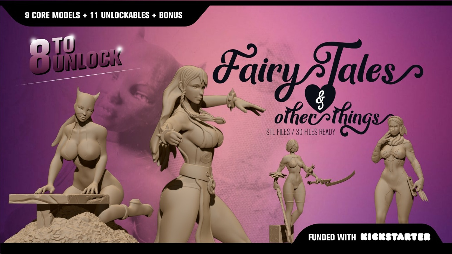 Sexy miniatures & collectables STL Files for 3D printing, 150mm  Goddesses & heroines resin or fdm