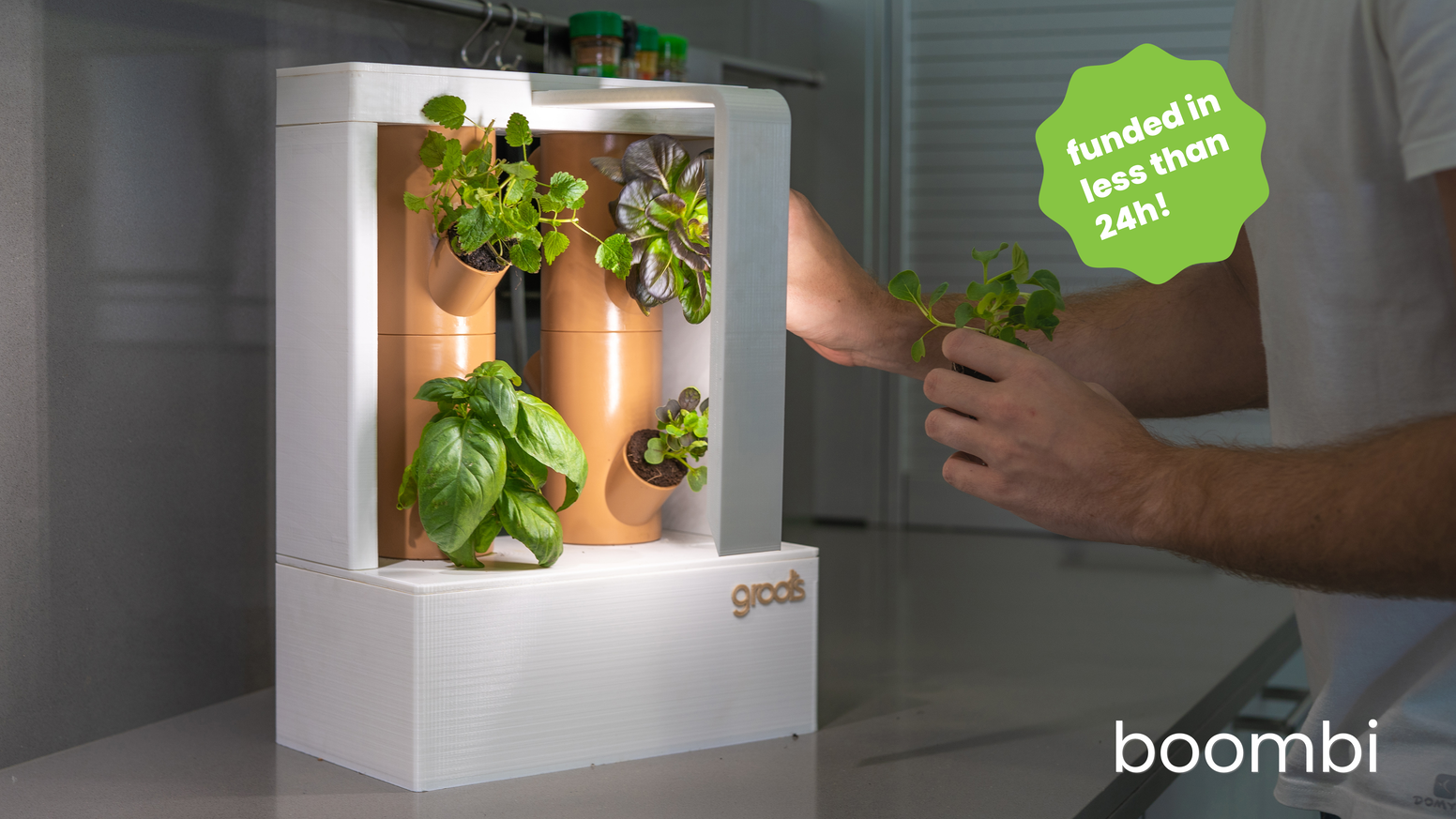The home vertical garden that helps you grow your own food anywhere & anytime with zero effort .