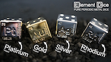 Element Dice 2: Precious Metal Plated (Gold, Silver, Pt, Rh) thumbnail