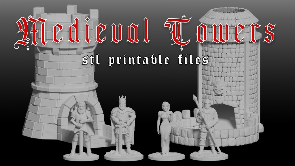 Project image for Medieval Dice Towers - STL Printable Files
