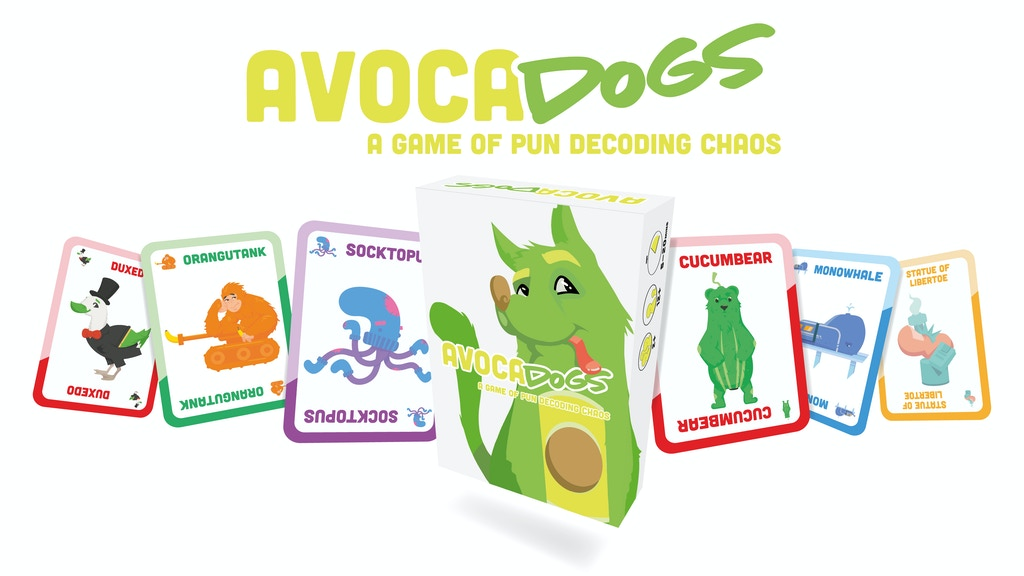 Project image for Avocadogs: A Fast Paced Card Game of Pun Decoding Chaos