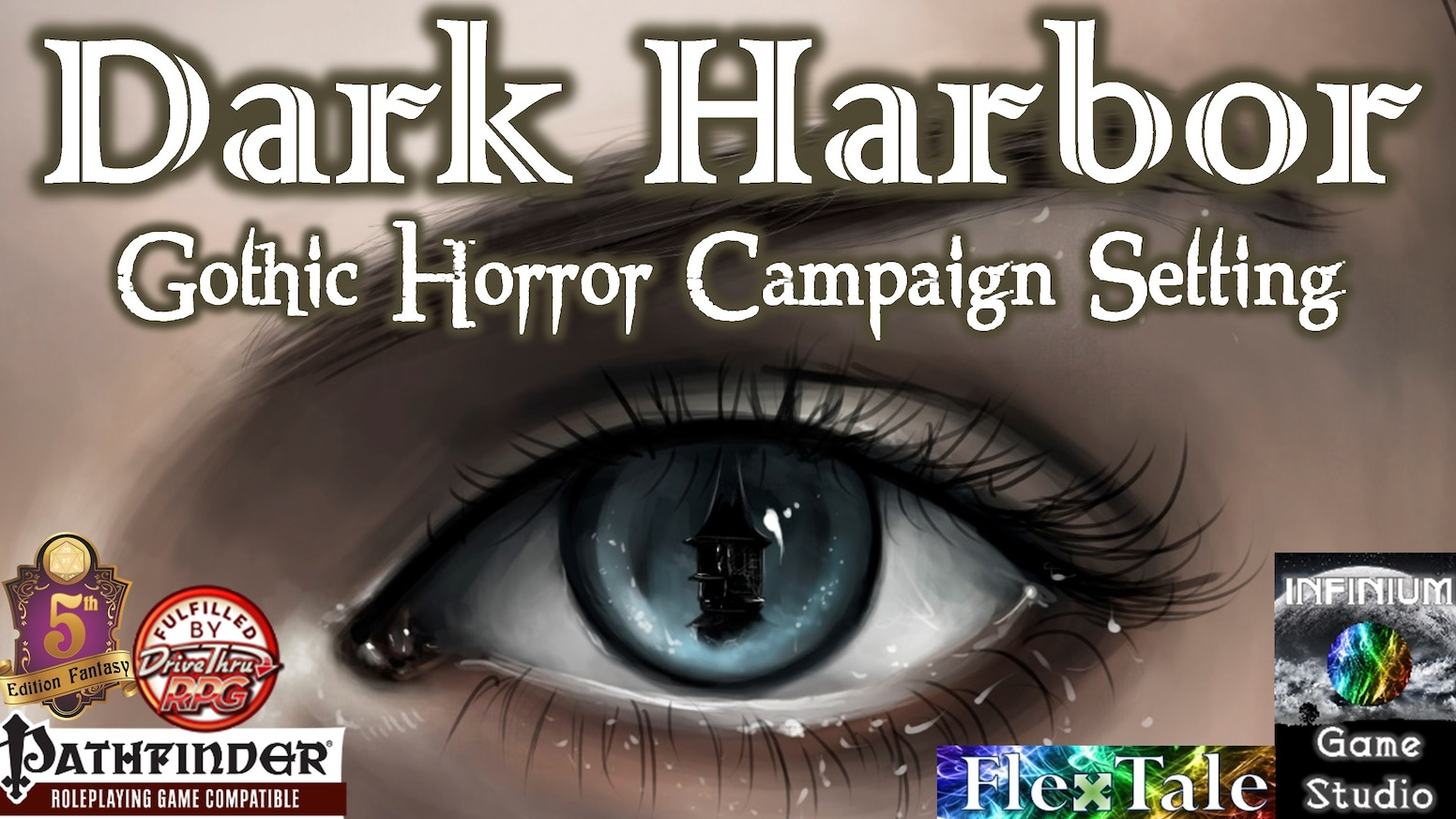 A gothic-horror fantasy RPG campaign setting for Pathfinder/5E, Dark Harbor is Ravenloft by way of Planescape, presented via Saw.