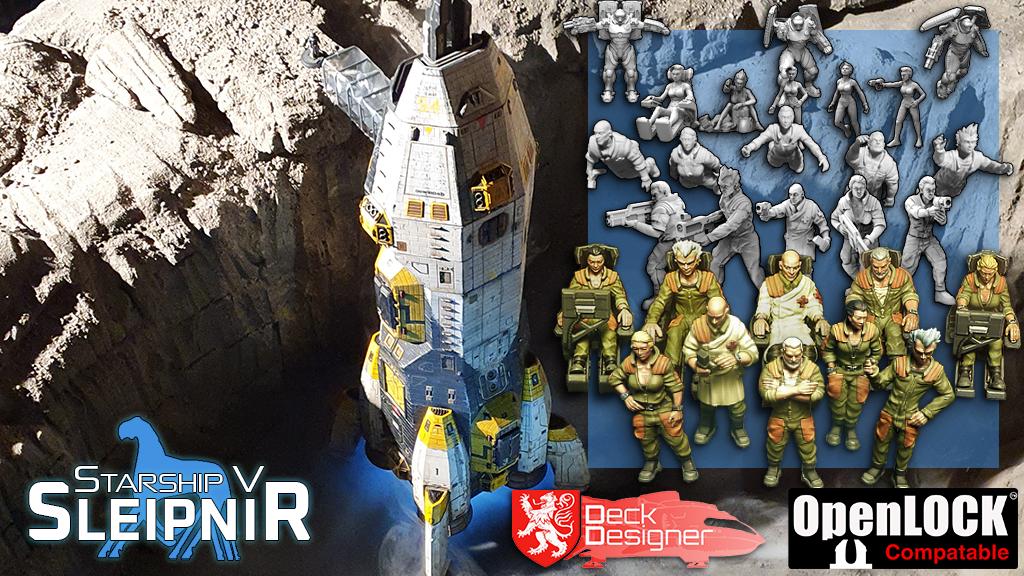 Starship V - Sleipnir, Crew Miniatures and Deck Designer project video thumbnail
