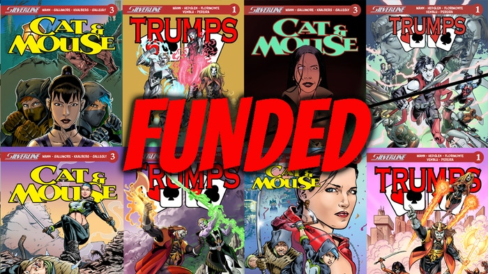"""A """"two-fer"""" offering from Silverline: Cat & Mouse #1-3; and Trumps book 1."""