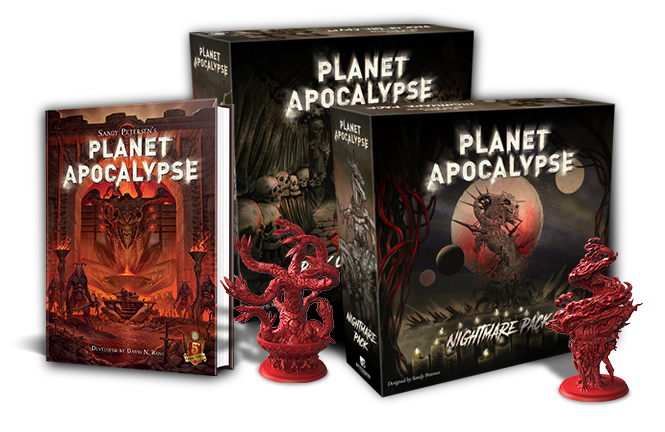 New Hells for the renowned Planet Apocalypse boardgame PLUS a D&D 5e sourcebook to bring the Apocalypse to your campaign!