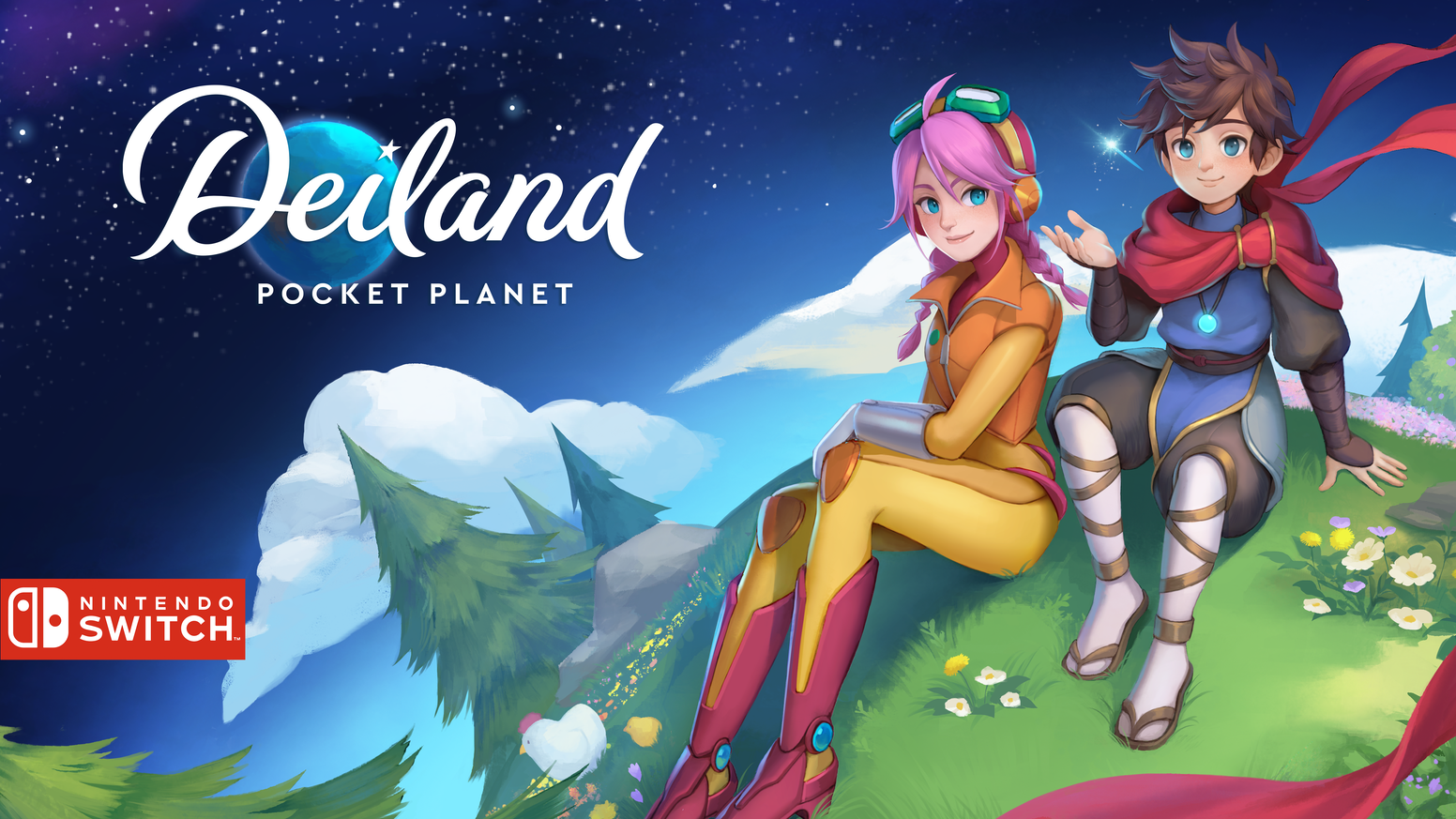 Discover Deiland: Pocket Planet Edition. Enjoy a relaxing farming adventure with unique content only for Nintendo Switch.