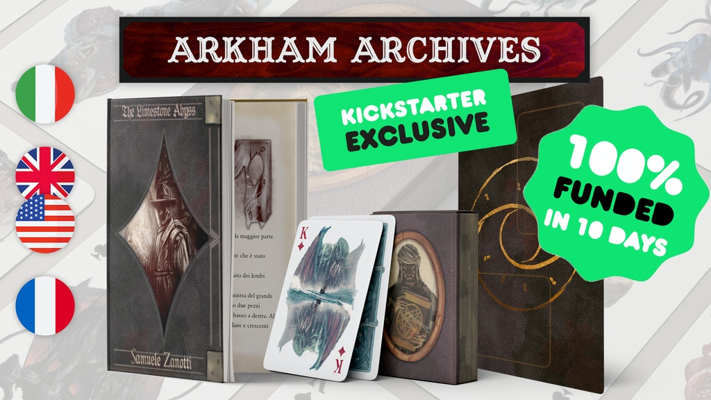 Arkham Archives: the Lovecraftian gamebook. Chapter I of IV project video thumbnail