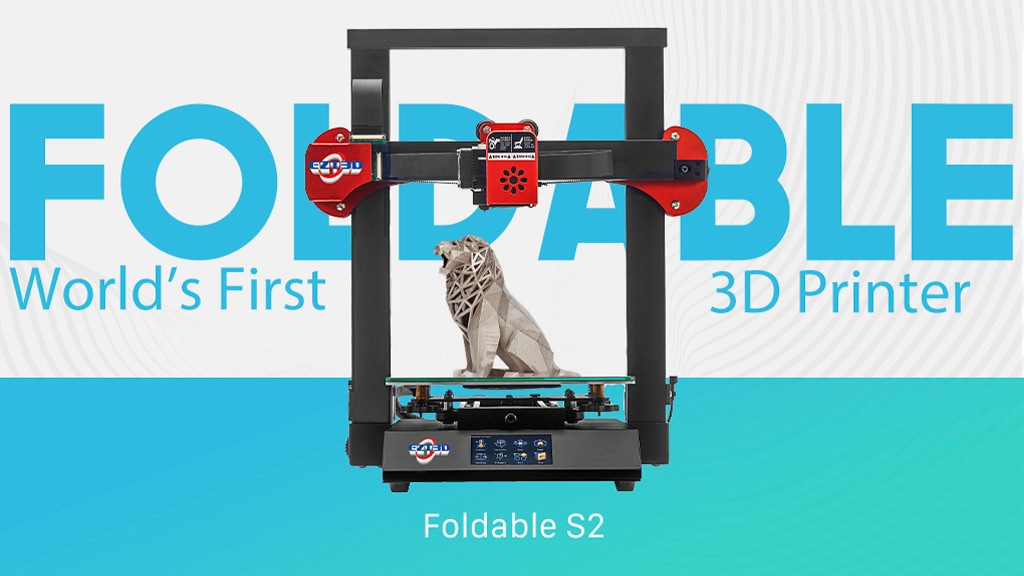 Foldable S2: World's First Foldable 3D Printer