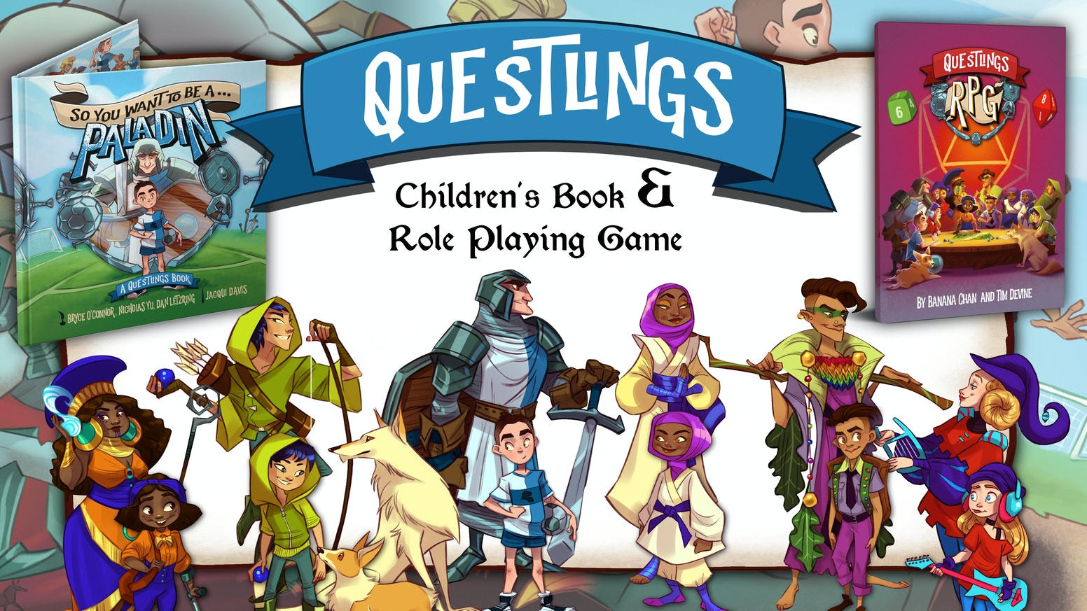 Questlings is an RPG-inspired children's book series and RPG game system about finding your Inner Hero.