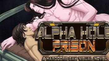 Alpha Hole Prison Yaoi Bara Gay BL Sci-Fi LGBTQ Visual Novel