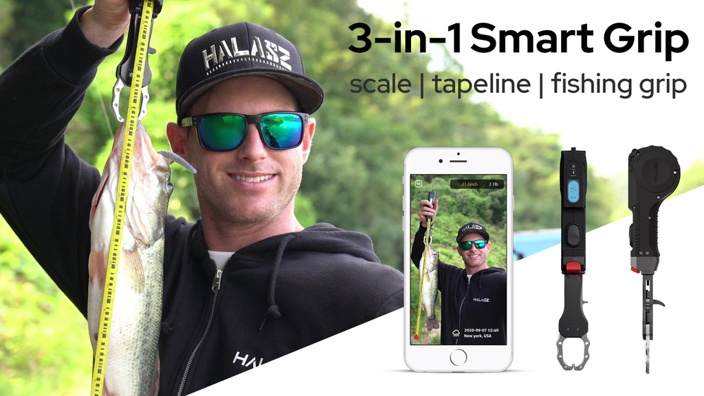HALASZ: 3-In-1 smart grip : scale, tapeline and fishing grip project video thumbnail