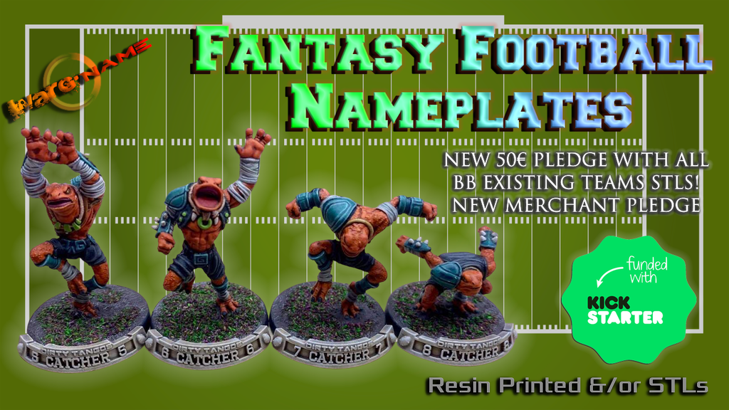 Project image for WARG'NAME: STL & Physical Nameplates for Fantasy Football!