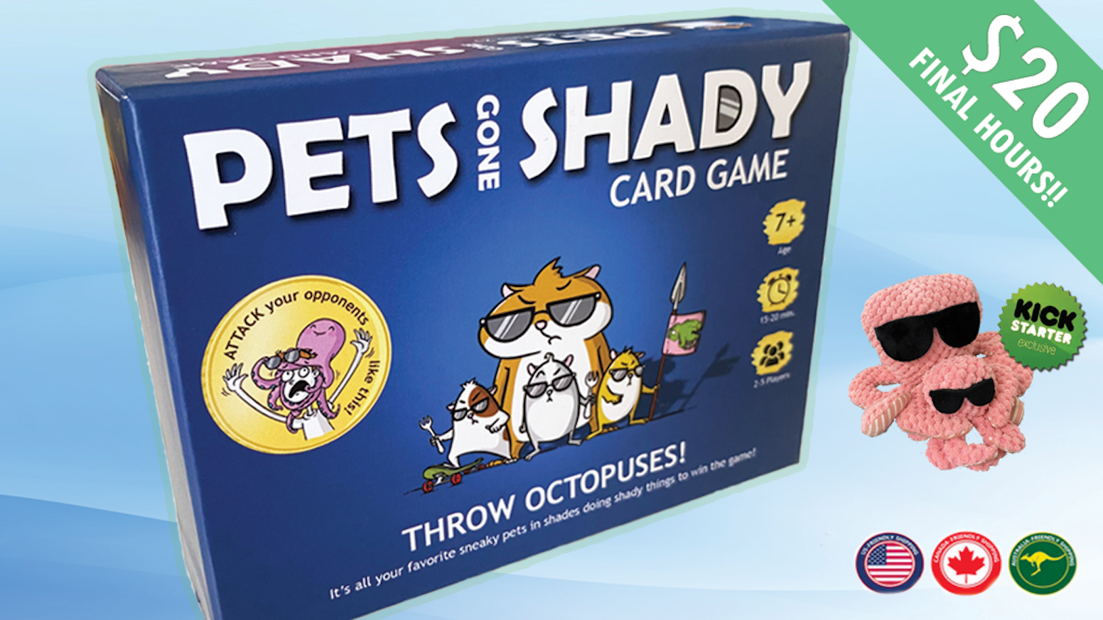 A card game that lets you throw octopuses, deal with naked turtles and avoid hangry hamsters!