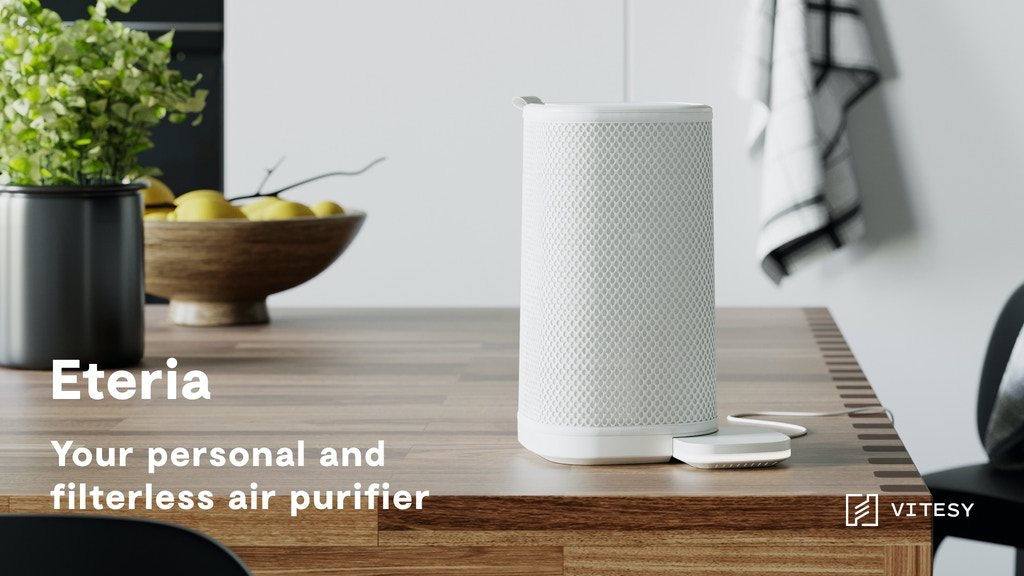 Eteria - Amazing Filterless Personal Air Purifier project video thumbnail