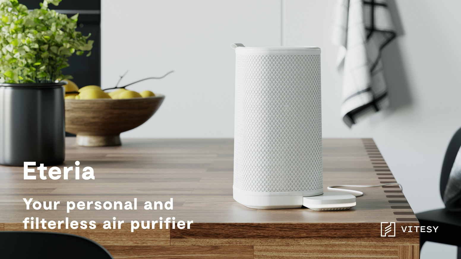 Finally redefining the concept of air purifiers thanks to a diffused purification and monitoring system - with powerful nanomaterials.