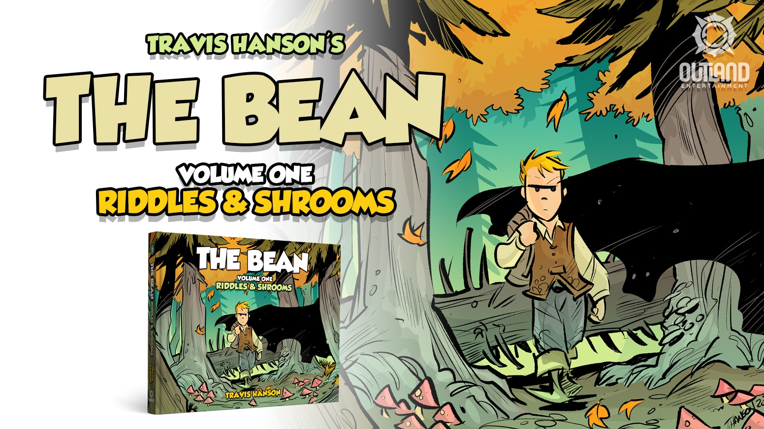 Adventure into the World of the Broken Moon with The Bean graphic novel series in COLOR for the first time in print!