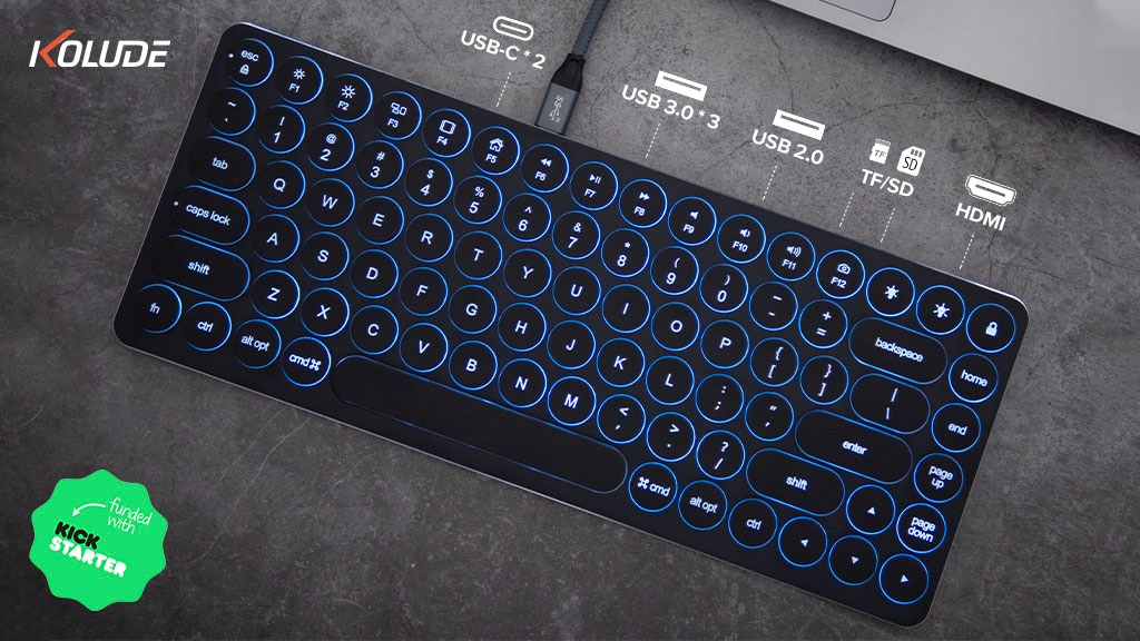 Kolude KD-K2 Aluminum Keyboard: Bluetooth vs Hub Version