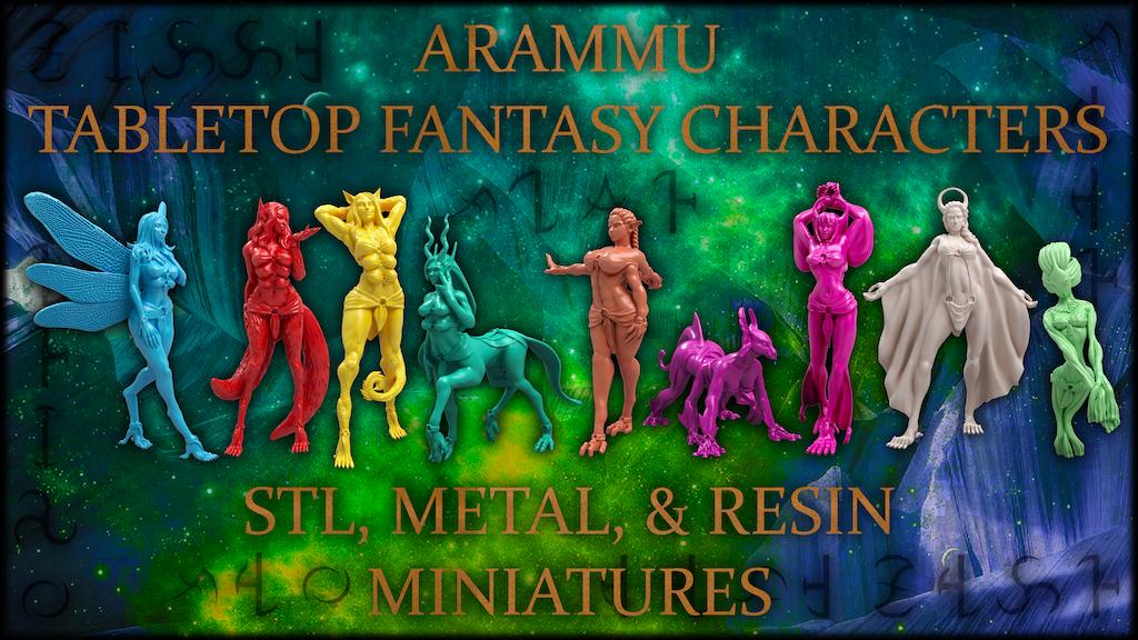 Arammu - Tinar: Fantasy Metal/Resin Minis & 3D Print files project video thumbnail