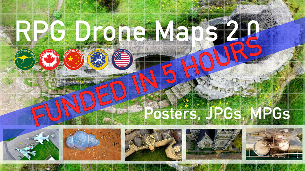 RPG Drone Maps 2.0: Poster & JPGs for Tabletop Battle Maps project video thumbnail
