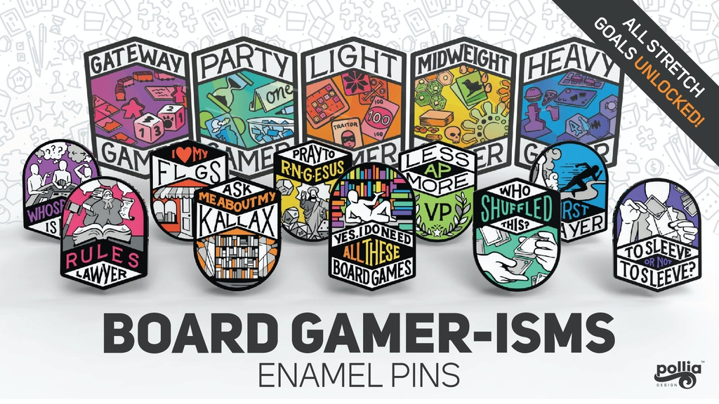 Project image for Board Gamer-Isms Enamel Pin Set
