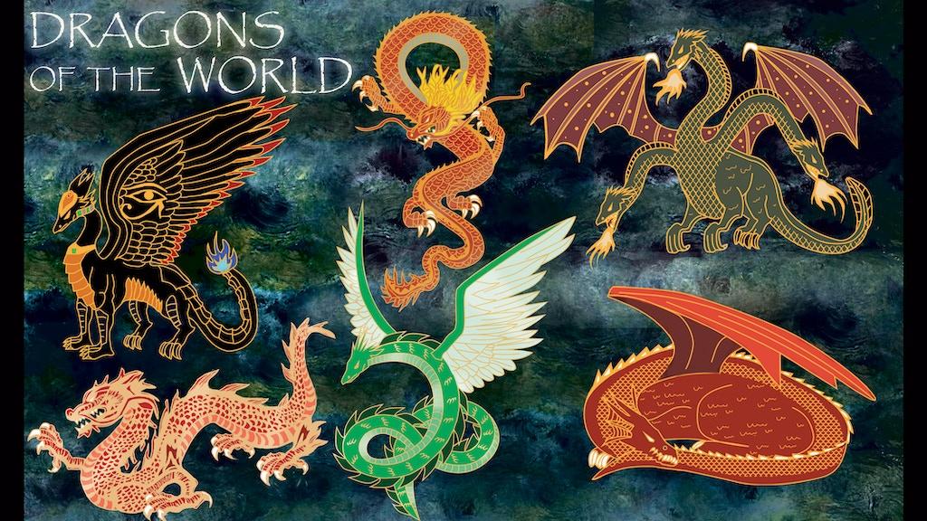 Dragons of the world hard enamel pins