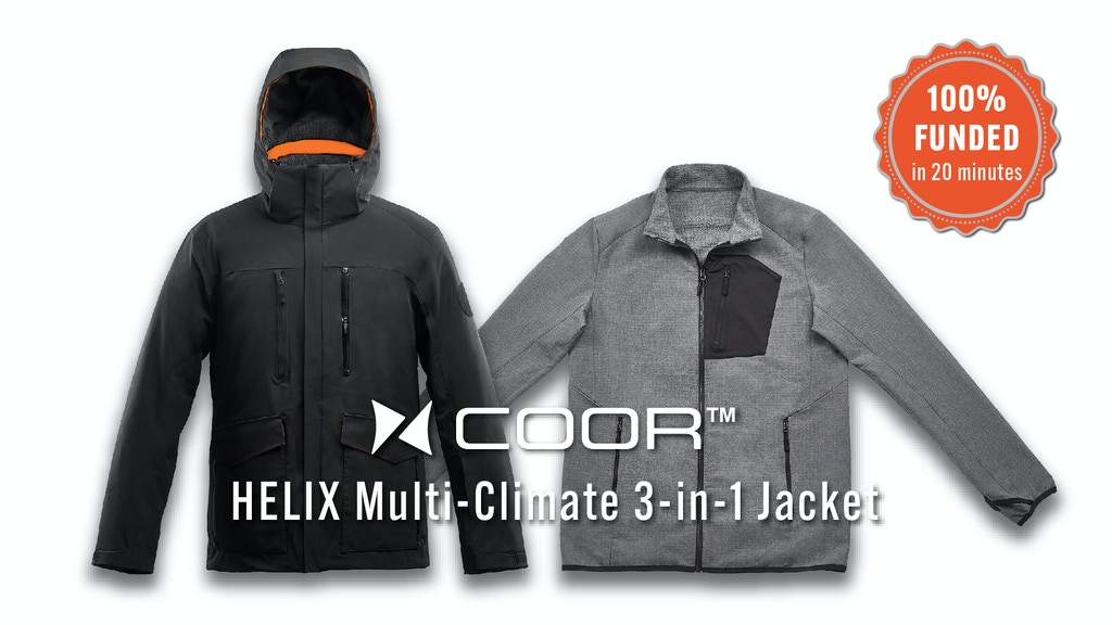 Multi-Climate 3-in-1 Jacket: Upcycled from Coffee Grounds project video thumbnail