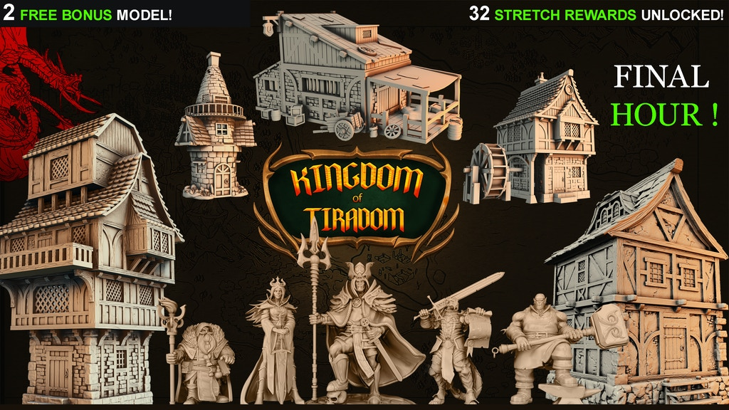Kingdom Of Tiradom - 3D Printable STL Medieval Fantasy project video thumbnail