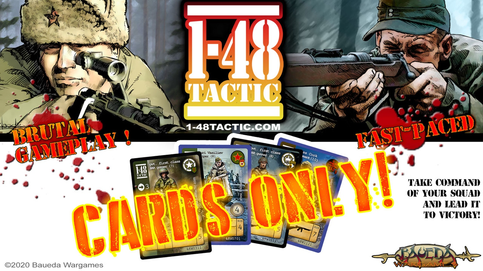 WW2 1-48TACTIC cards game: new individual faction decks introducing new Tactic cards and Officers (rules for these are provided free)!
