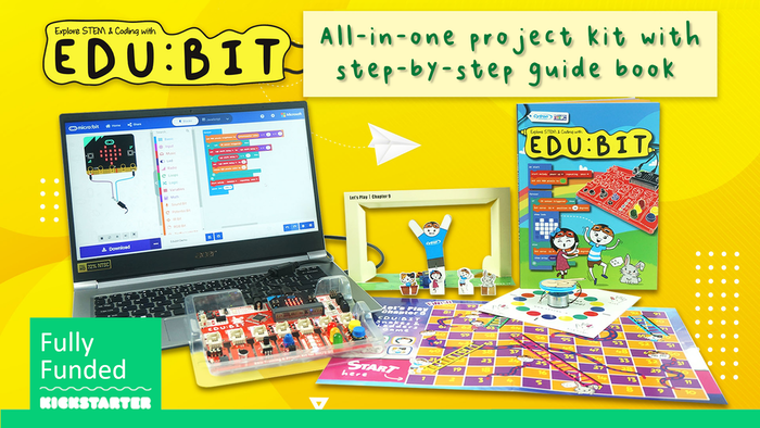 A versatile STEM & coding micro:bit kit for children & beginners to start coding and making.