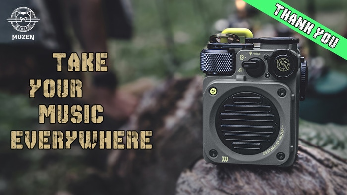 Rugged, powerful and portable. Muzen Wild Mini unleashes stunning sound for your wildest adventures.