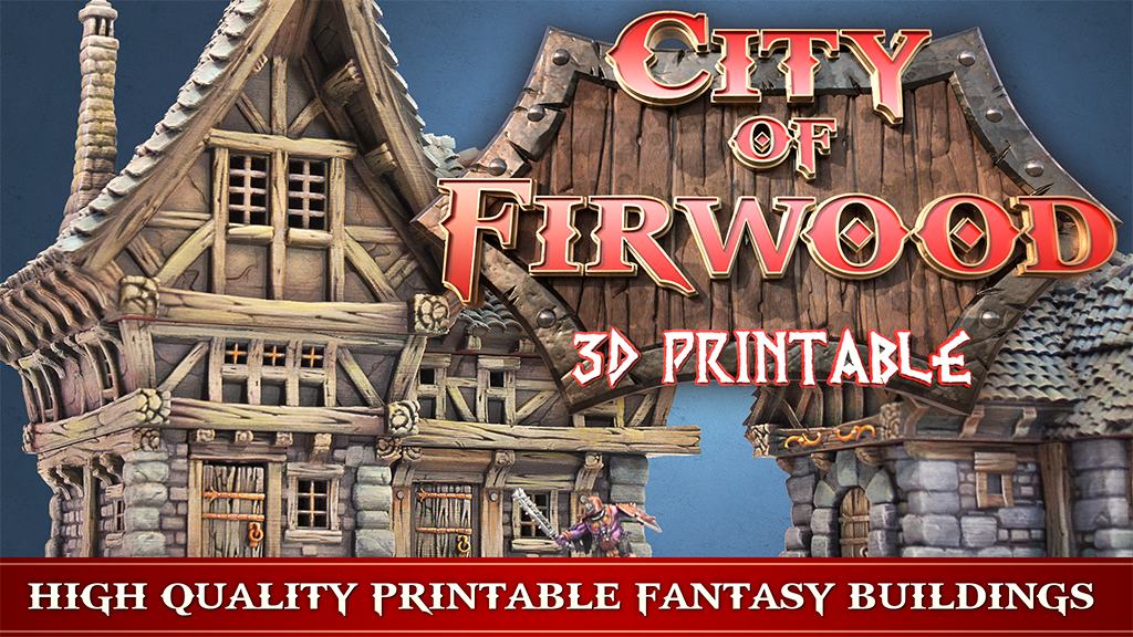 Project image for 3D Printable City of Firwood - STL files