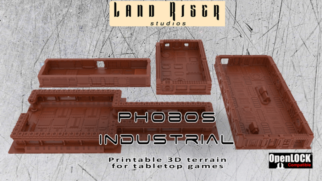 Project image for Phobos Industrial: Printable OpenLOCK Sci-Fi Scenery