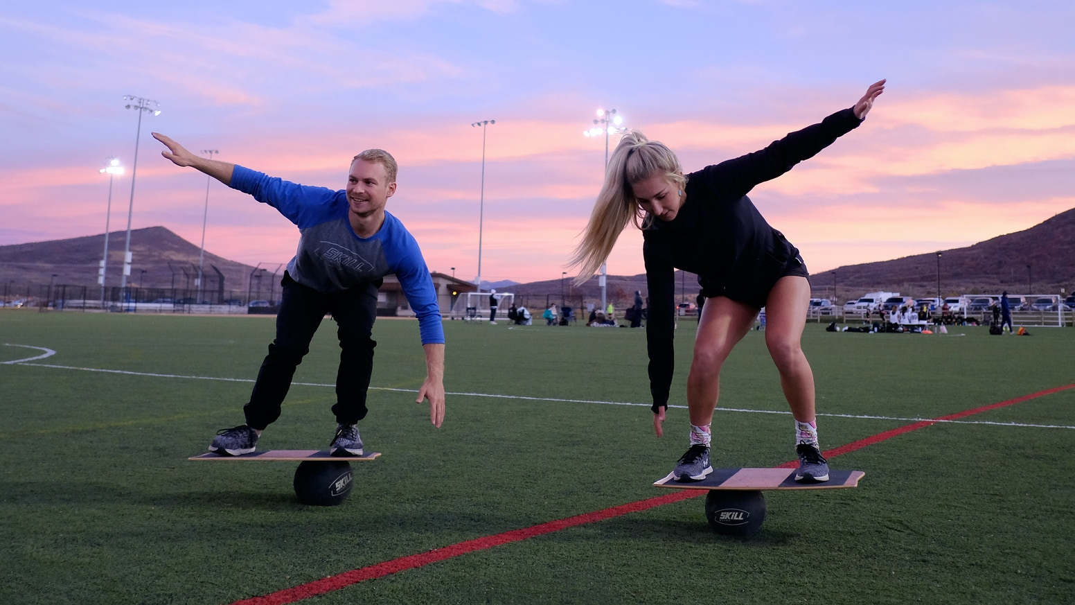 Skill Board makes a balance board that challenges your balance in a 360 degree range of motion