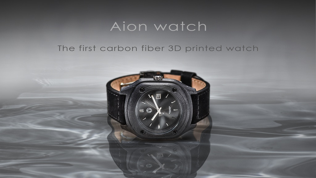 Aion Watch - First carbon fiber 3D printed watch project video thumbnail