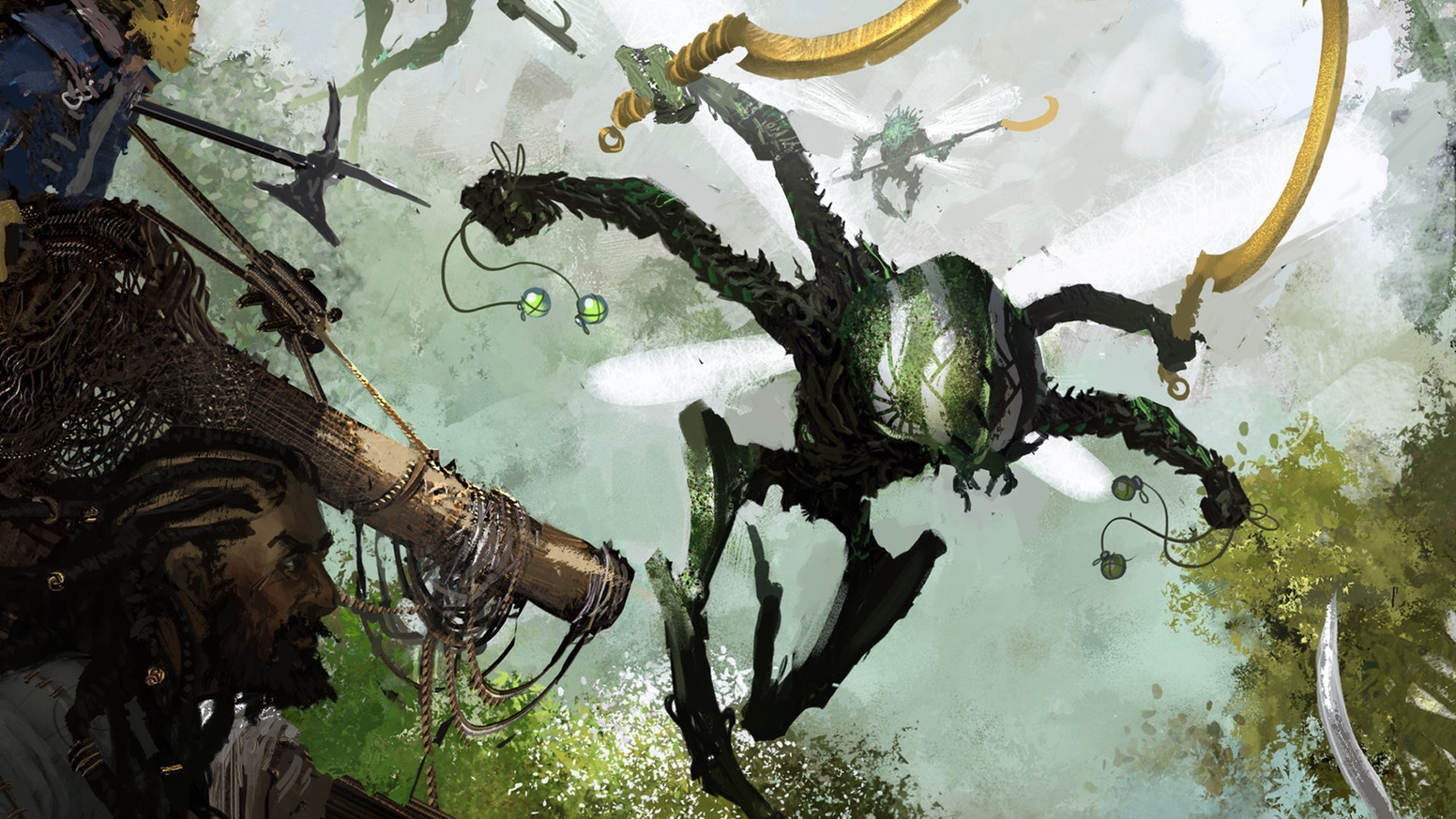 A post-fall fantasy tabletop roleplaying game set in a rampant ocean of verdant green.