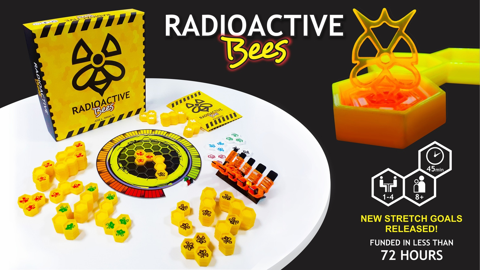 An innovative tile-stacking game in which mutant bees build 3D radioactive honeycombs