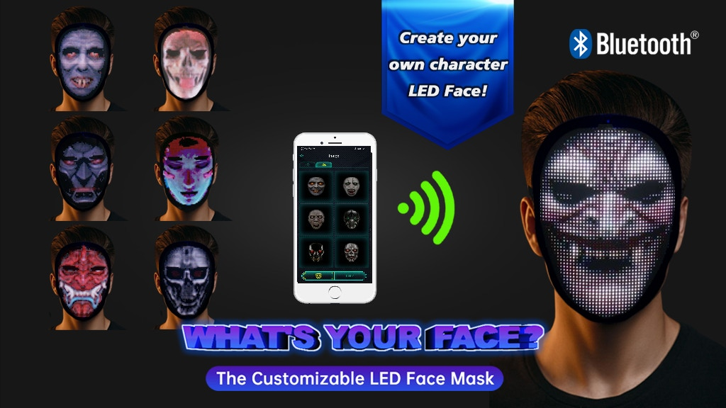 What's Your FACE: The Customizable LED Face Mask