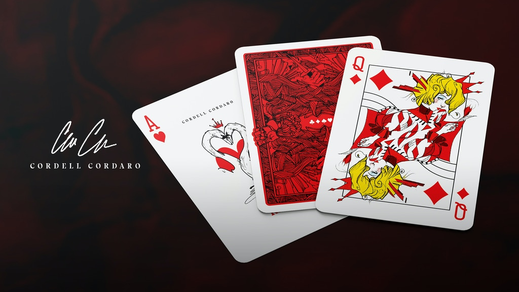Project image for Cordell Cordaro Playing Cards: RED & BLACK Editions