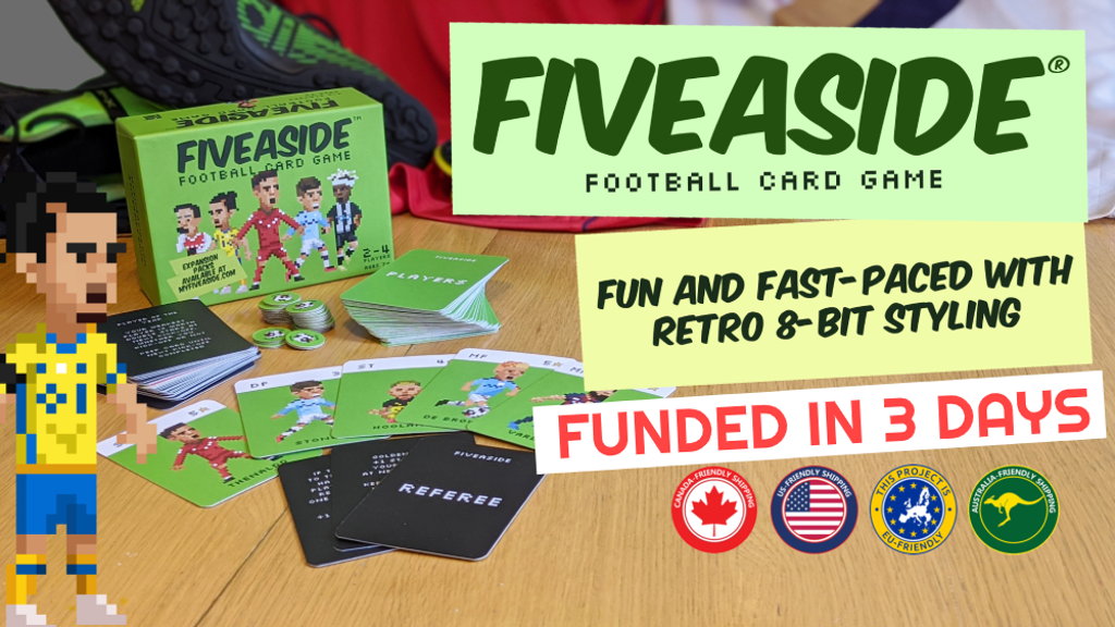 Fiveaside®: retro-inspired football card game.
