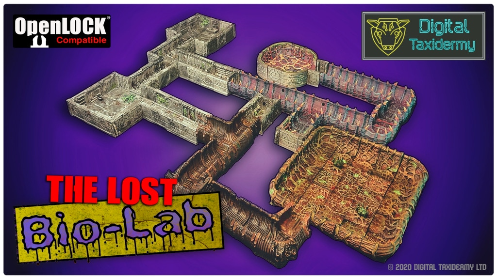 The Lost Bio-Research Lab - Sci-fi vault/dungeon complex STL