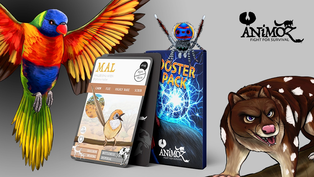 ANiMOZ - The trading card game of Australian animals project video thumbnail
