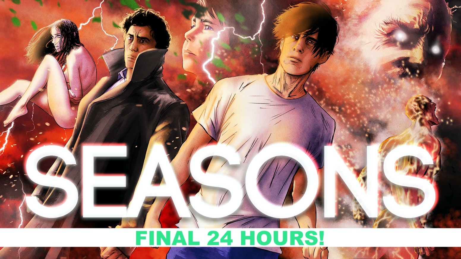 The highly-anticipated second volume in the acclaimed supernatural/superhero series, SEASONS.
