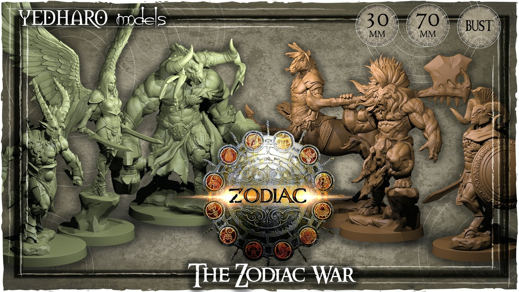 The Zodiac War by Yedharo Models / 30mm - 70mm - Busts project video thumbnail