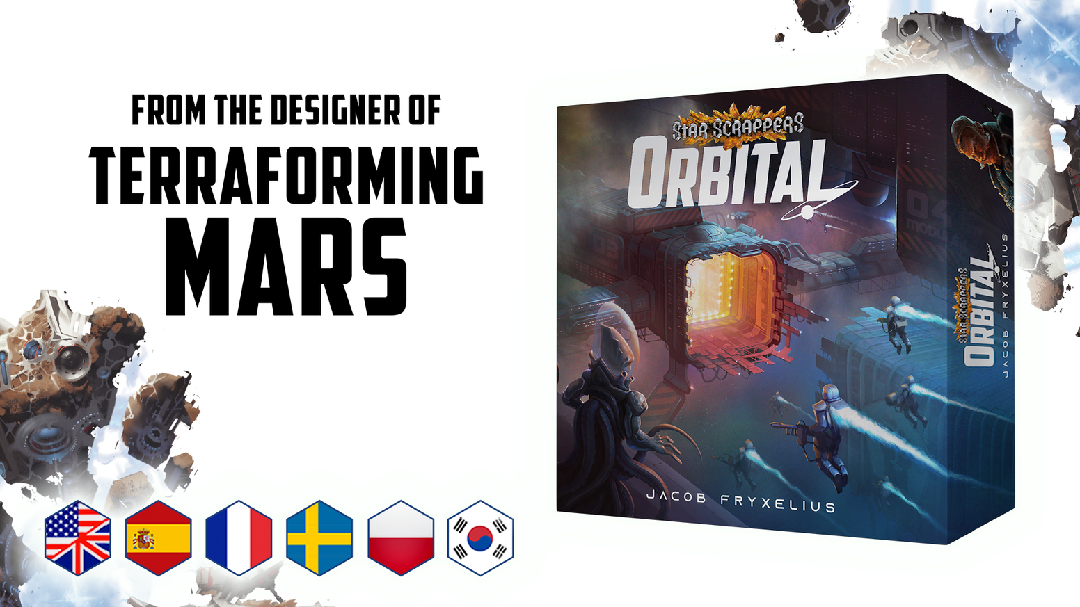 Become a space station commander! Compete against rival corporations in a card game for 1-5 players by designer of Terraforming Mars.