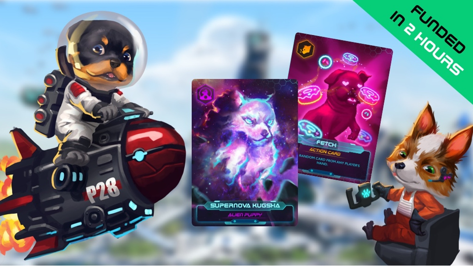 A Strategic Sci-Fi Card Game with Cyberpunk Pups. Collect Alien Puppies and avoid Barkmageddon!  ✅50+ Dog Breeds ✅Fun ✅Cyberpunk