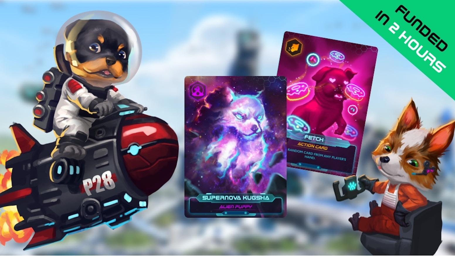 A Strategic Sci-Fi Card Game with Cyberpunk Pups. Collect Alien Puppies and avoid Barkmageddon! ✅50+ Dog Breeds✅Fun✅Cyberpunk