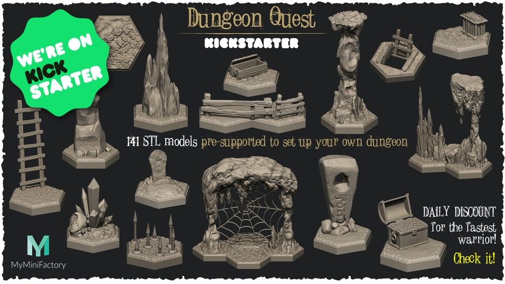 Project image for Dungeon Quest - STL files