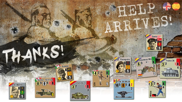 Tactical wargame about the Spanish Civil War and international aid. Realistic simulation hex&counter wargame with 800+ counters!
