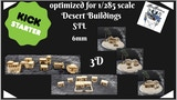 3D Stl Desert village Tabletop 6mm 1:285 thumbnail